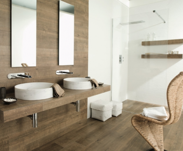 20 Amazing Bathrooms With Wood Like Tile Wood Look Tile Bathroom