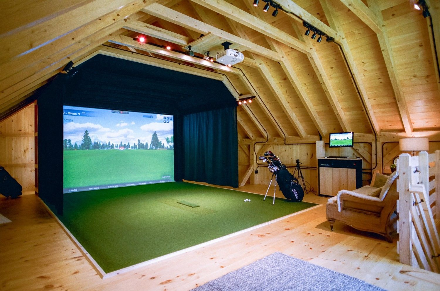 Image result for double garage golf simulator #golfsimulator golf
