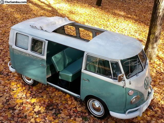 Rare Sunroof Sliding Door Walk Thru Bus Con Imagenes Autos Combi