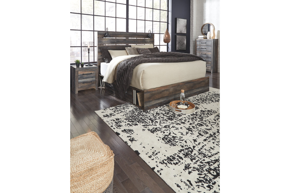 Drystan Queen Panel Bed with 2Storage Ashley Furniture