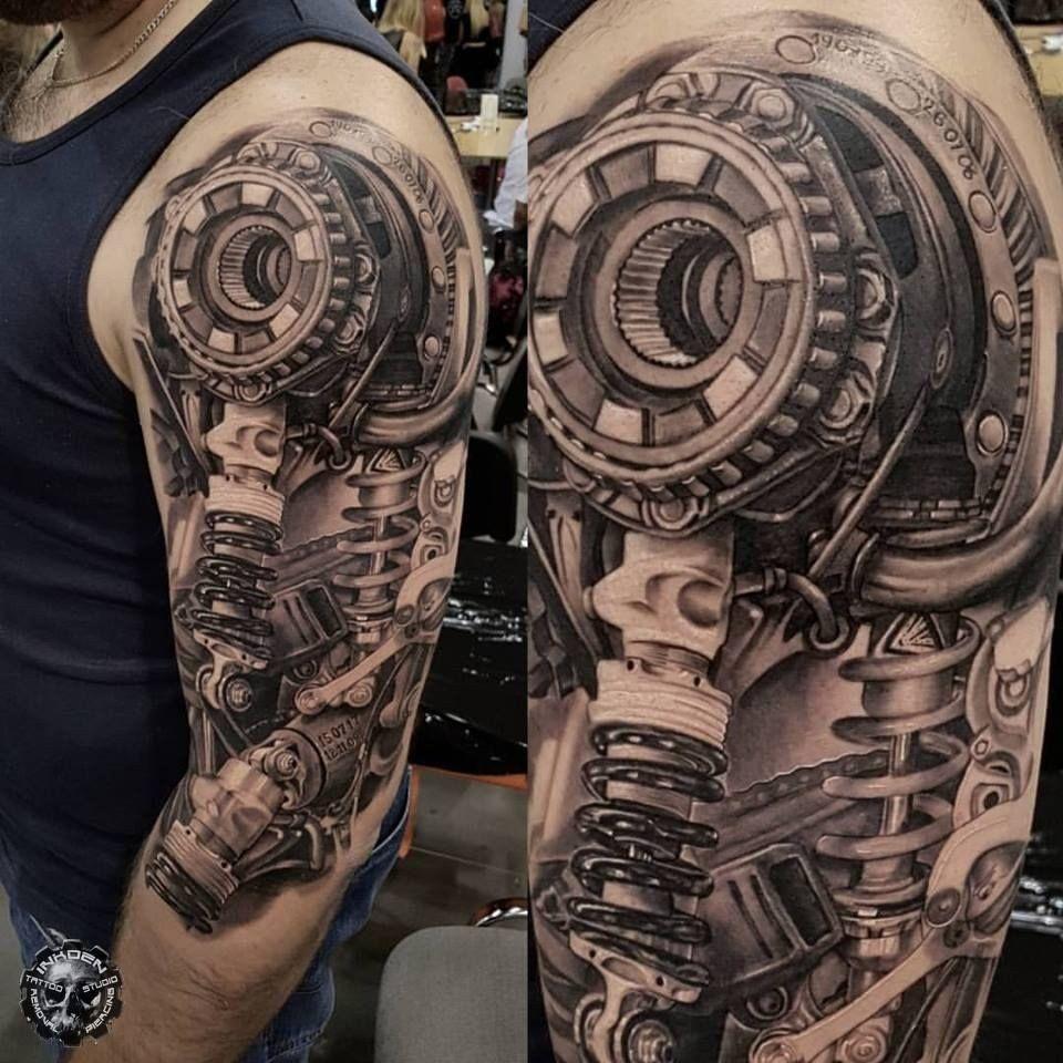 Amazing tattoo done by przemek pics biomechanical