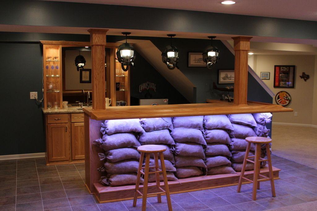 Sandbag Bar Basement Bar Plans Basement Bar Designs