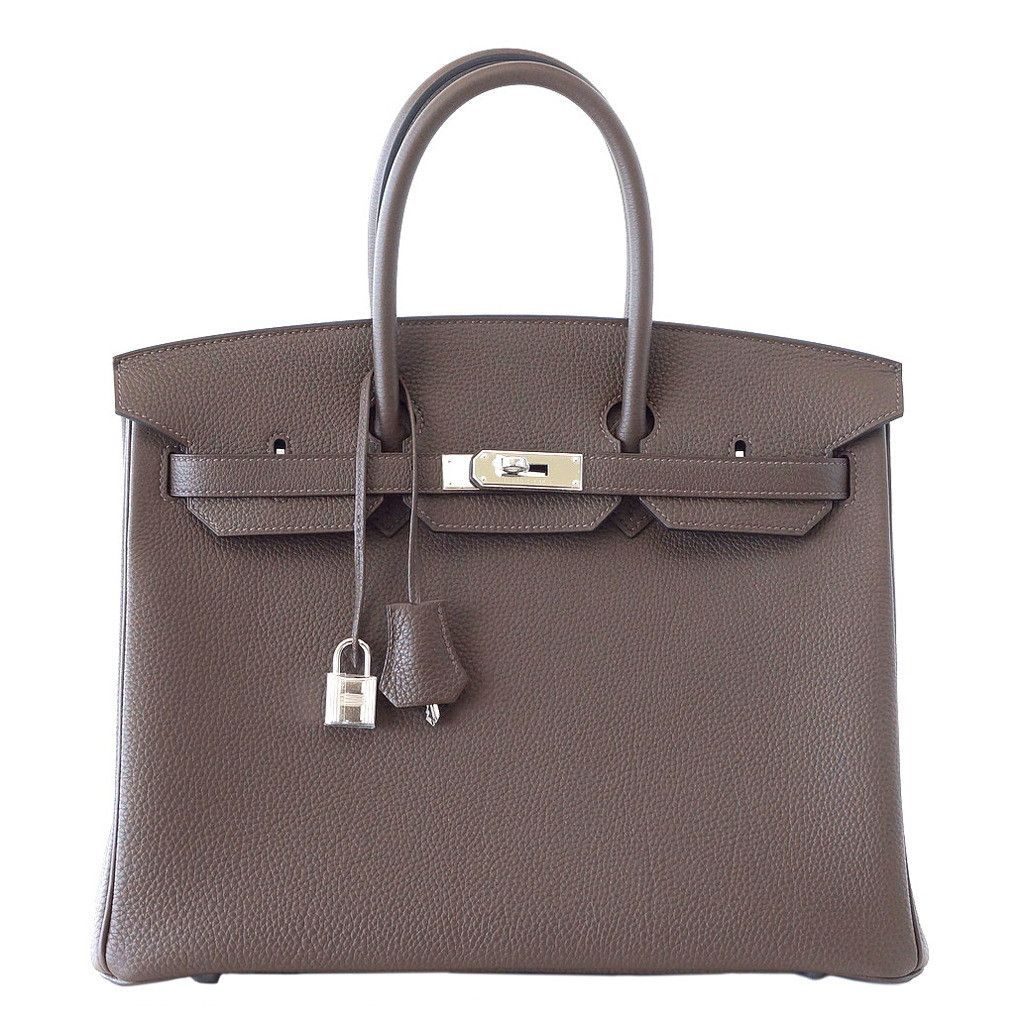 e6cf0f116fde Hermes BIRKIN 35 very chic ECORCE (bark) is a dark taupe brown with gray  tones - a striking neutral colour that is absolutely unique.