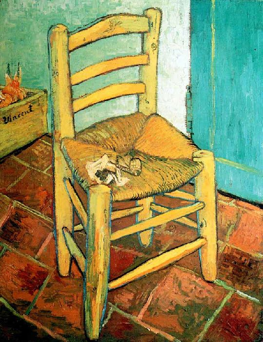 vincent van gogh post impressionism arles la chaise de l 39 artiste the chair of the artist. Black Bedroom Furniture Sets. Home Design Ideas