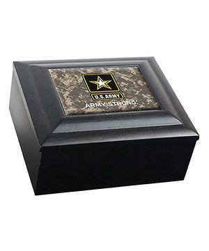 Look at this #zulilyfind! U.S. Army Camo Wood Keepsake Box by Great American Products #zulilyfinds