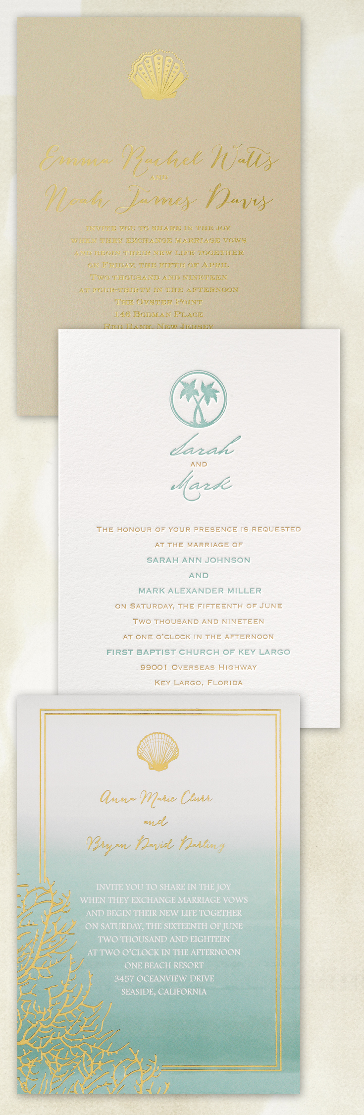 Set The Tone For Your Beach Themed Wedding With Coordinating Wedding