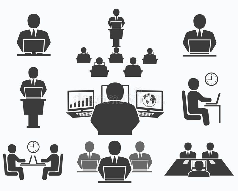 Business People Office Icons Conference Computer Work Illustration Affiliate Office Icons Business People Office Icon Business People Work Icon