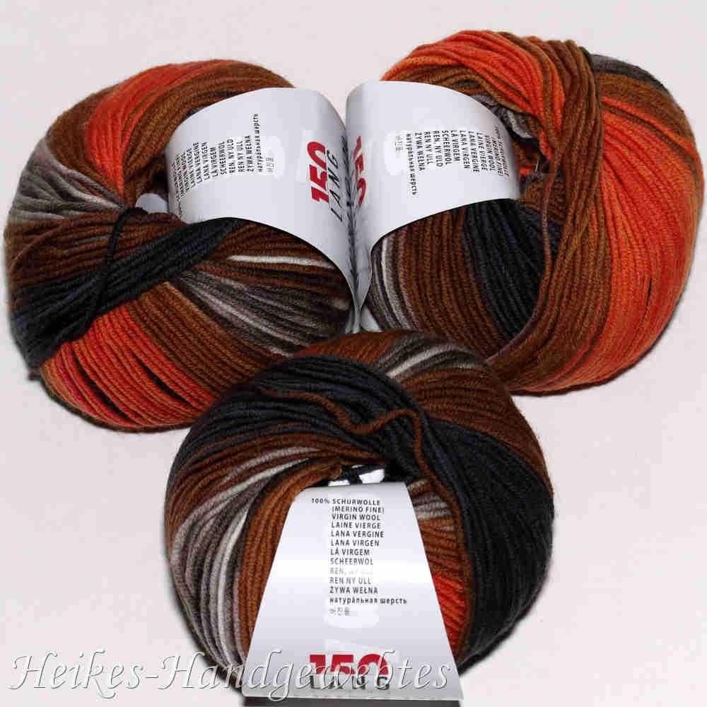 Merino 120 Color OrangeBraunAnthrazit Orange farbe