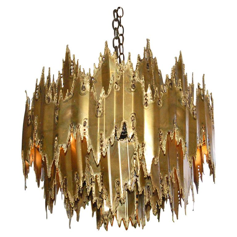 Brutalist Chandelier attributed to Harry Weese  sc 1 st  Pinterest & Brutalist Chandelier attributed to Harry Weese | Brass chandelier ... azcodes.com