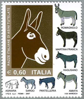 イタリア 2007年ロバ 日本切手 外国切手の販売 趣味の切手専門店マルメイト 切手 ロバ アートイメージ