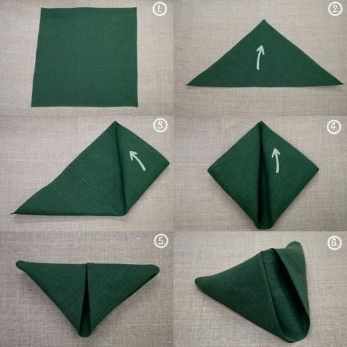 Simple Paper Napkin Folding Simple Napkin Folding Techniques Simple Napkin Foldi...,  #Foldi ... #diynapkinfolding