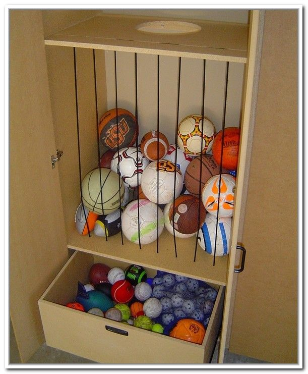 Garage Ball Storage Net (611×741) | Garage | Pinterest | Barn Garage  And Barn