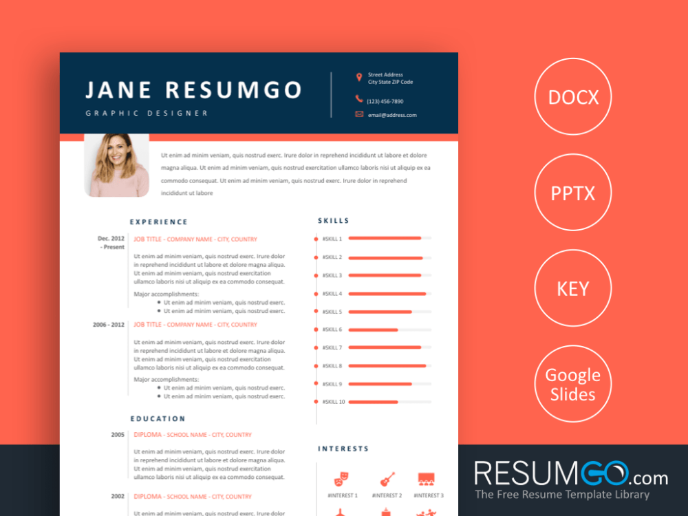 CHRYSEIS Professional and Modern Resume Template