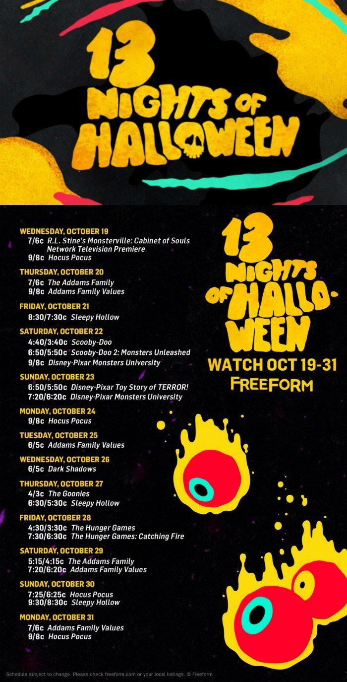13 Nights of Halloween Movies on Freeform | Halloween movies ...