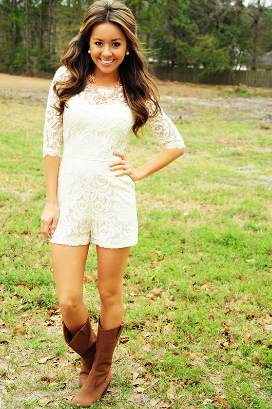 c1466160a0f1 This Sweet Southern Belle Romper  Ivory from Hope s is adorable!!! Use the  promo code HOLLIREP to get 10% off of your entire order plus get FREE  SHIPPING ...