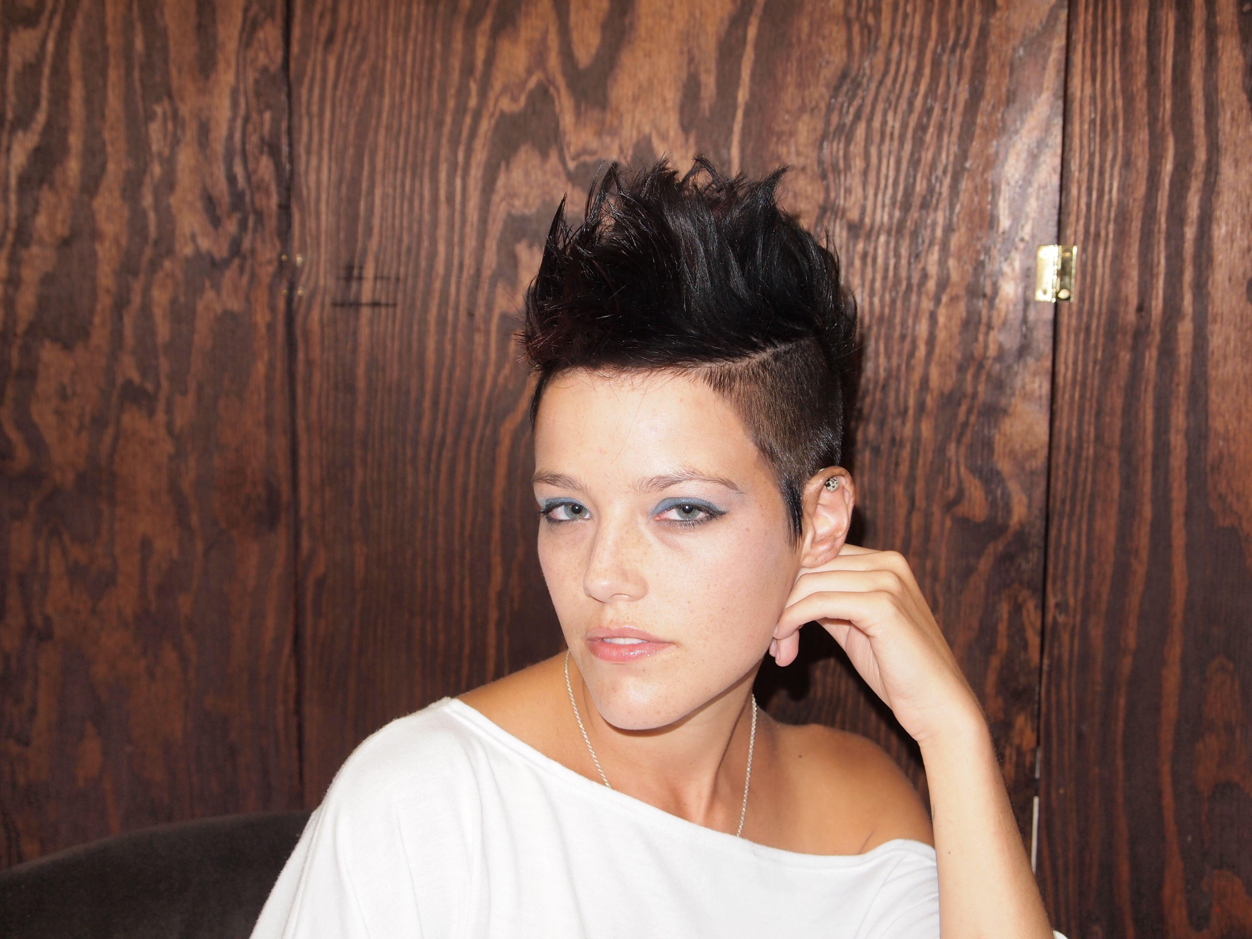 Mohawk girl hair pinterest