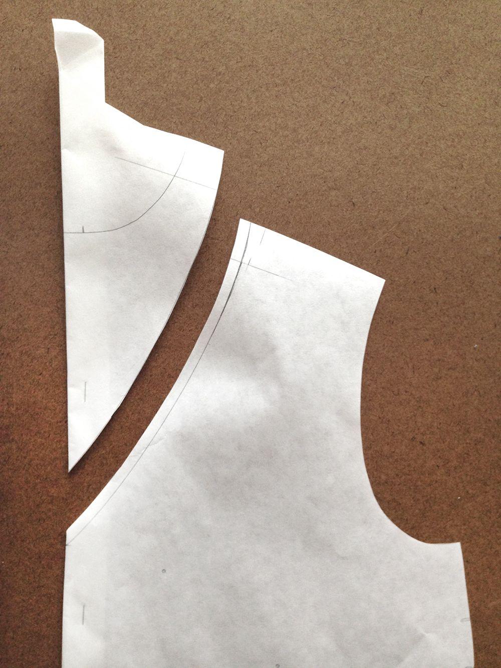 Big, clear, beautiful: Collared to v-neck redesign tutorial... Alder V-Neck Variation