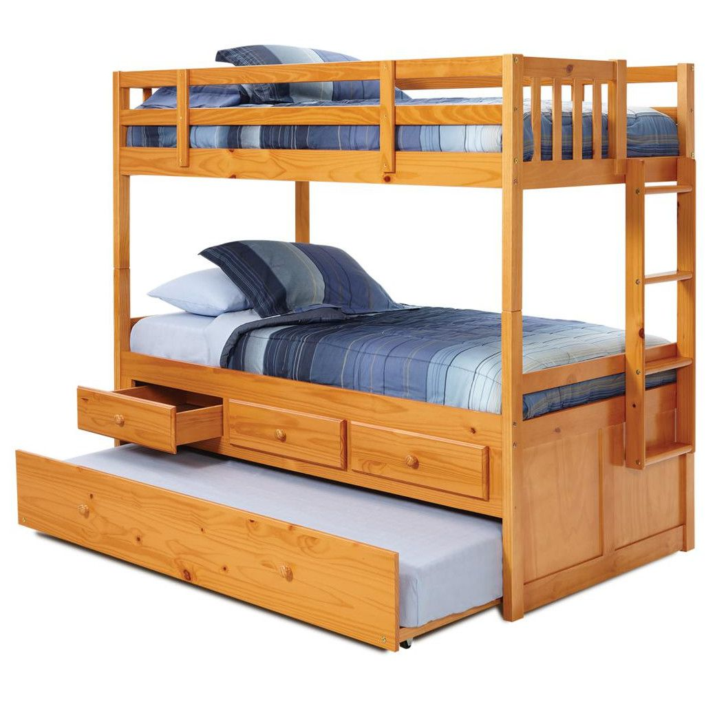 Best Chelsea Home Twin Over Twin Bunk Bed With Trundle And 400 x 300