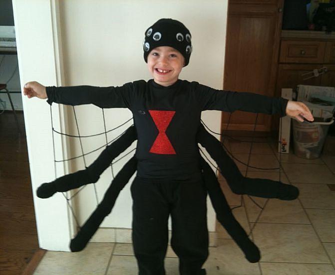 Kids spider costume halloween costumes pinterest for Simple halloween costumes for kids