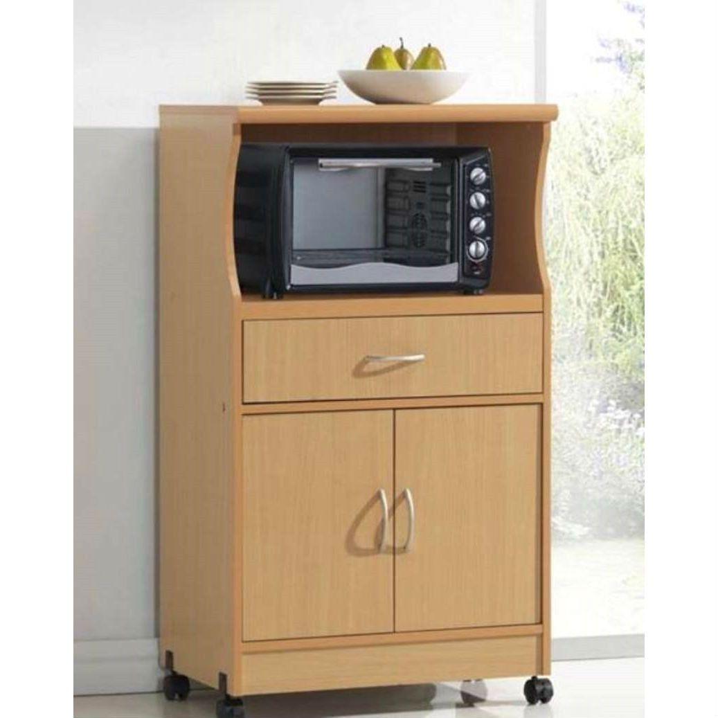 beech wood microwave cart kitchen