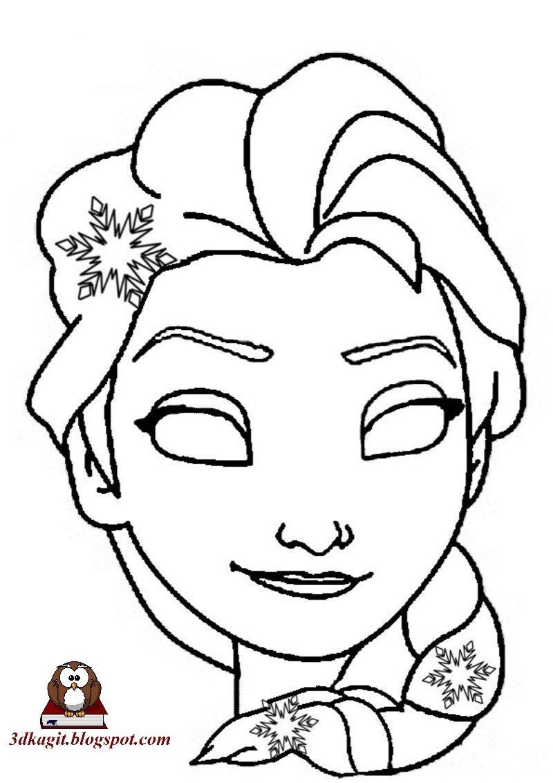 Frozen Elsa Maskeleri Maskeler Boyama Sayfalari Sanat Teknikleri