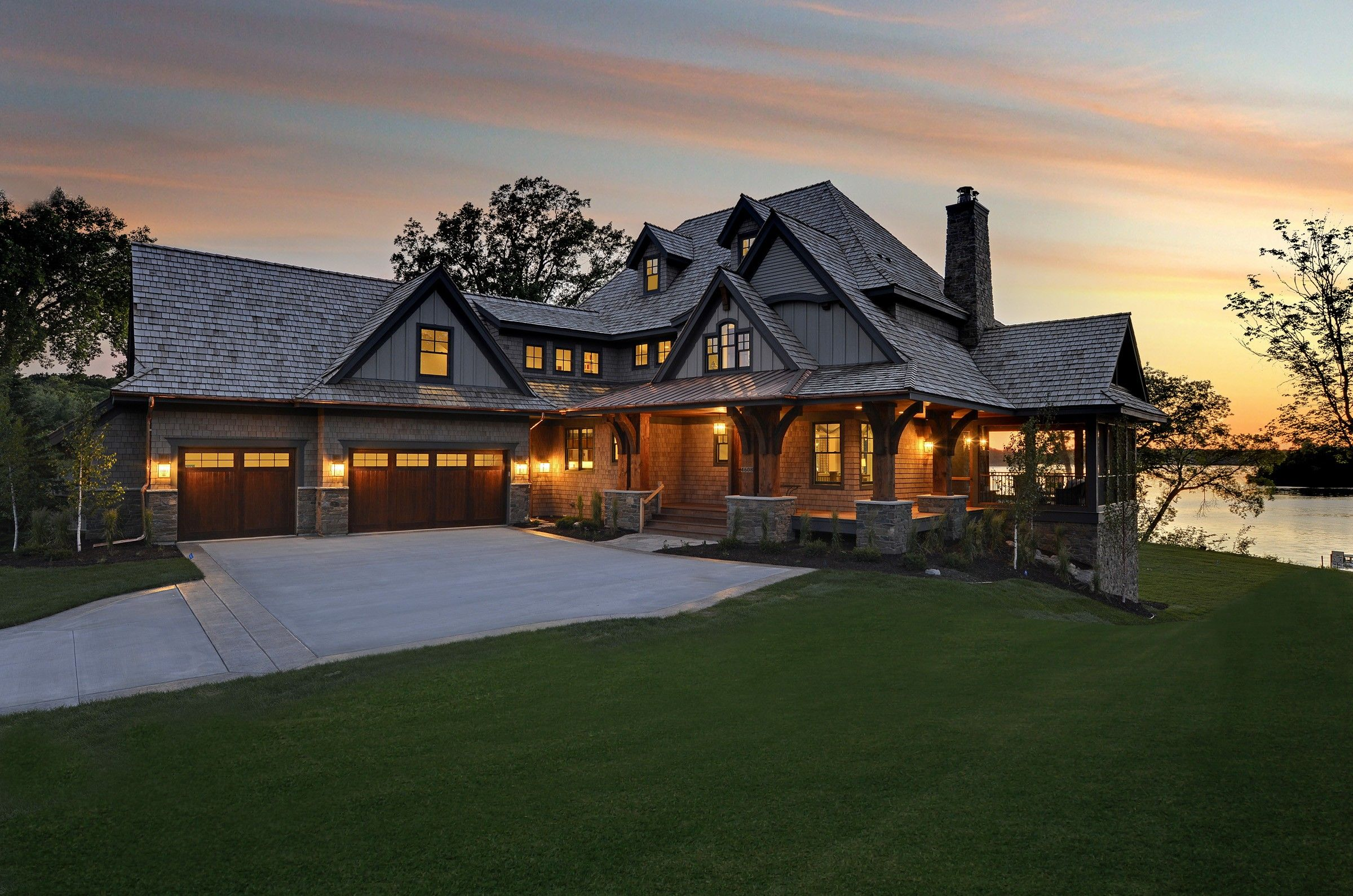 Exterior Image From A Stonewood Llc Custom Home Build Lake Houses Exterior House Designs Exterior House Exterior