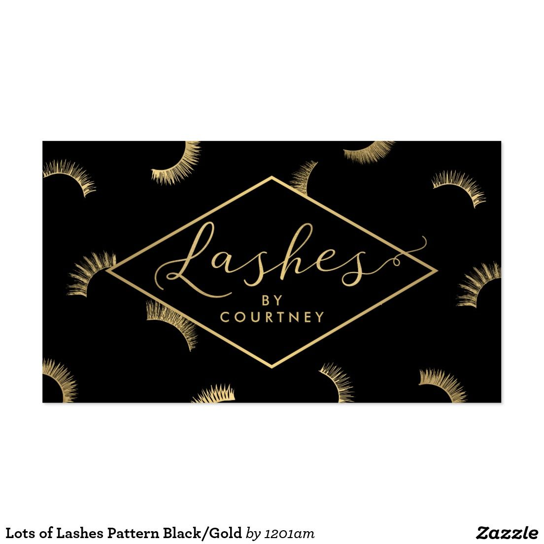 Lots of lashes pattern blackgold business card for lash salon lots of lashes pattern blackgold business card for lash salon magicingreecefo Image collections