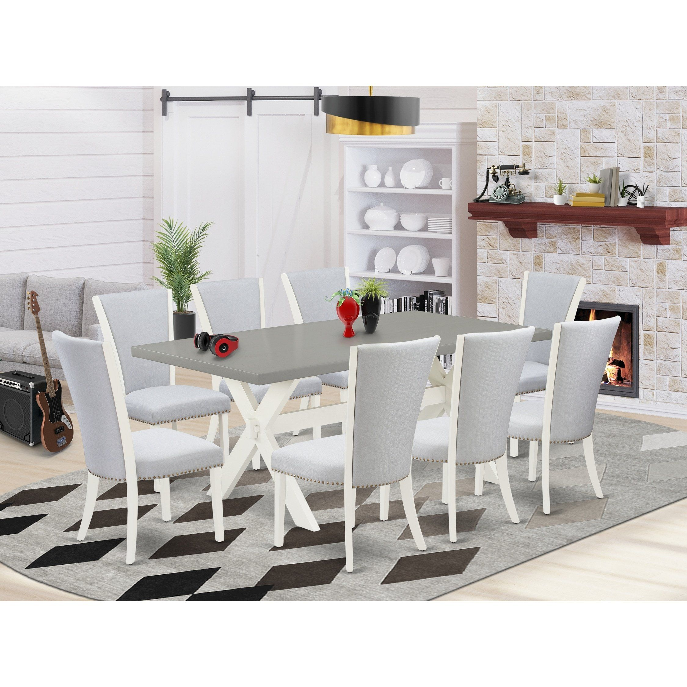 East West Furniture Dining Room Set   X9VE9 9   Home Accessories