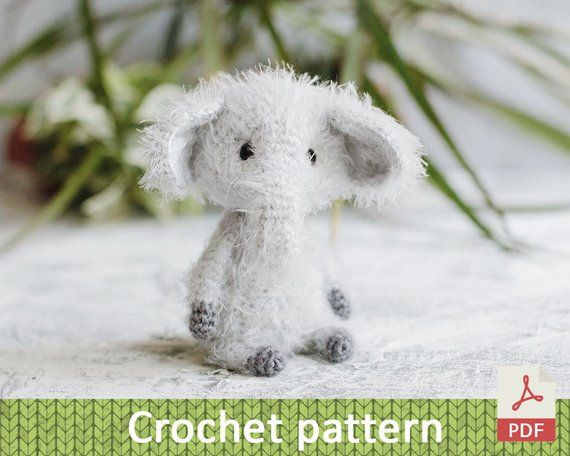 Crochet elephant PATTERN / Elephant toys softie tutorial / Plush Elephant pattern / Elephant tutorial / amigurumi pattern elephant #crochetelephantpattern