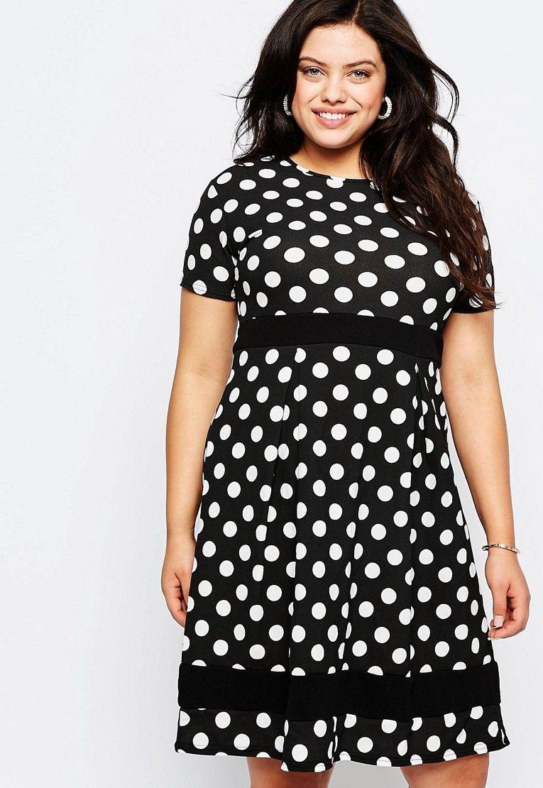 Платье в горошек для полных женщин (58 фото): фасоны ...