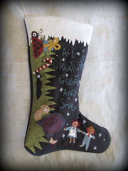 All Creatures Great And Small Christmas Stocking E Pattern By Cheswickcompany