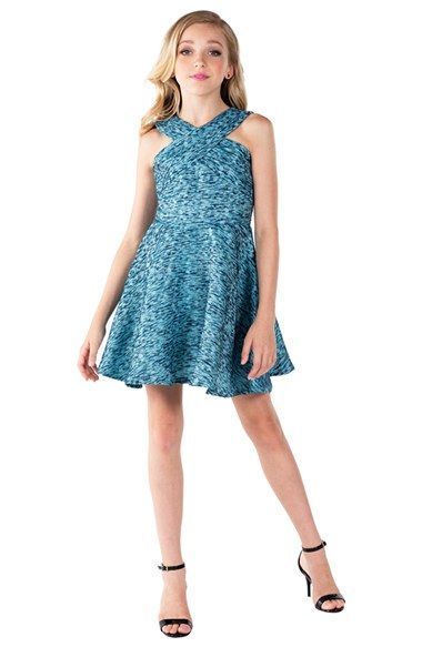 Miss Behave Brooklyn Jacquard Fit Amp Flare Party Dress