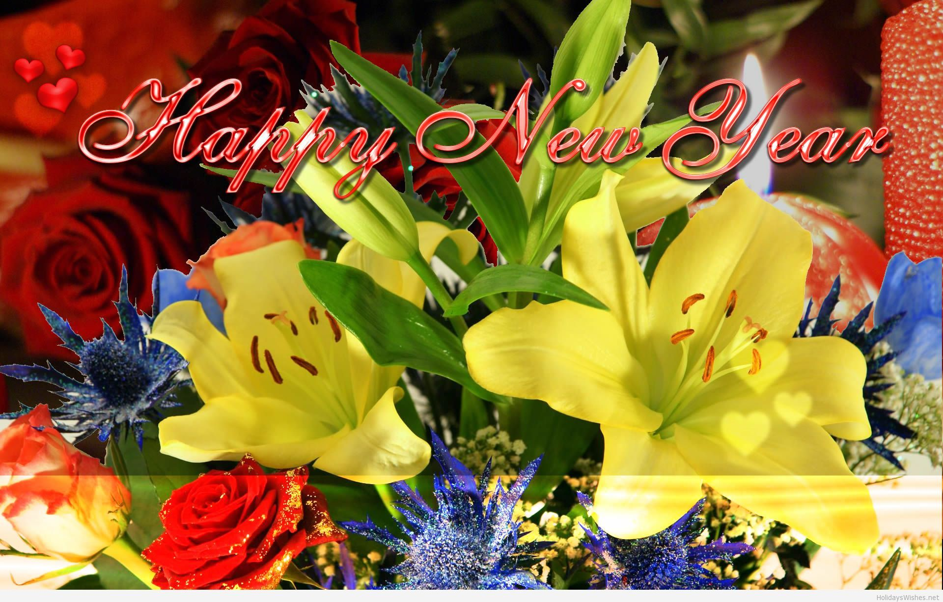 Happy new year flowers new year wallpapers new year pinterest happy new year flowers new year wallpapers voltagebd Image collections