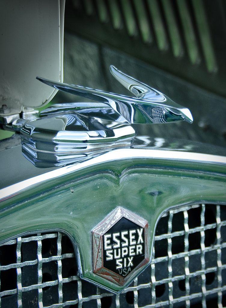 Hood Ornament and emblem of a 1931 Essex Super Six at the 2009 Goodguys Colorado Nationals car show in Loveland, Colorado.