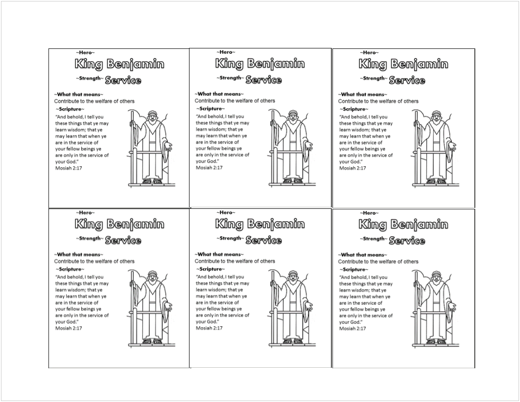 Scripture Hero King Benjamin Trading Card Bw Png 1062 822