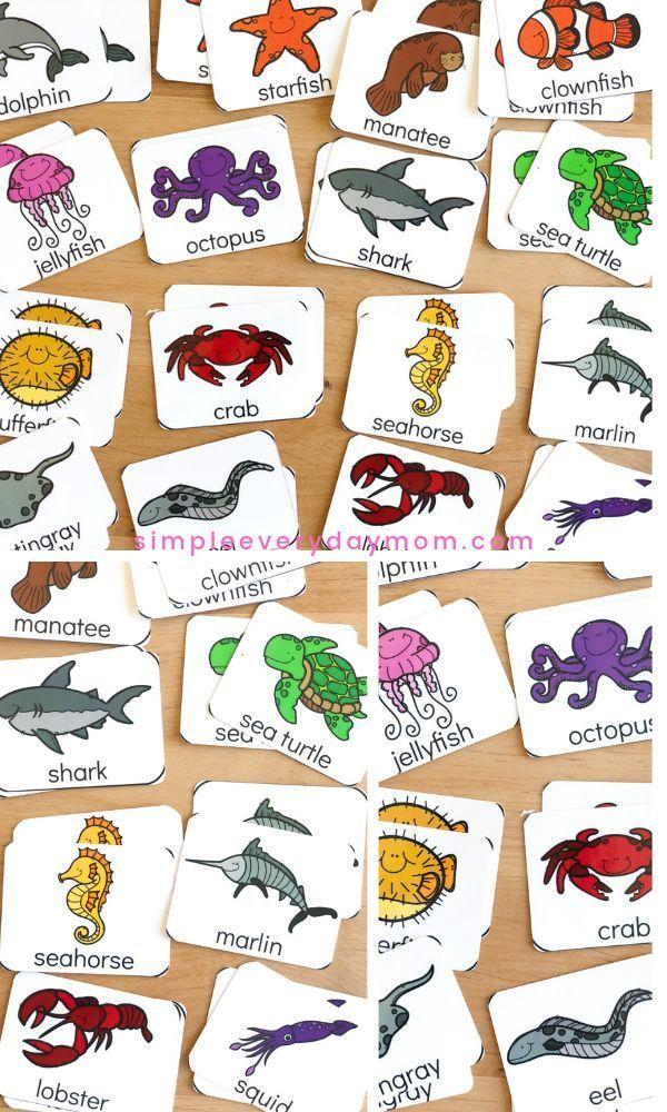 Free Ocean Printable Matching Game For Preschoolers Free