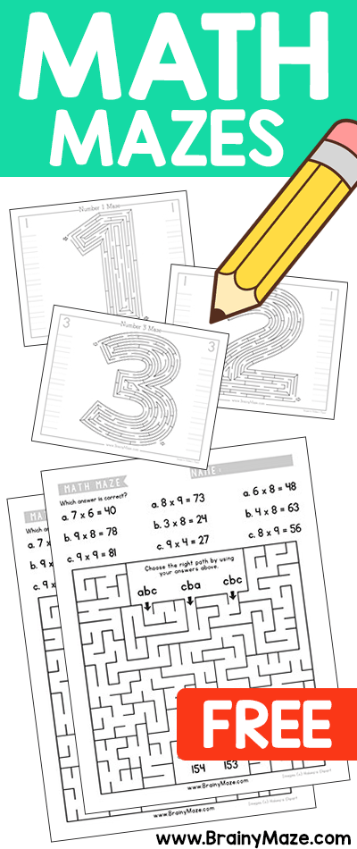 Jackpot Grab These Free Math Mazes While You Can Number Mazes
