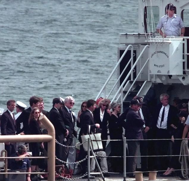 John F  Kennedy Jr  is given a burial at sea in 1999 - NY