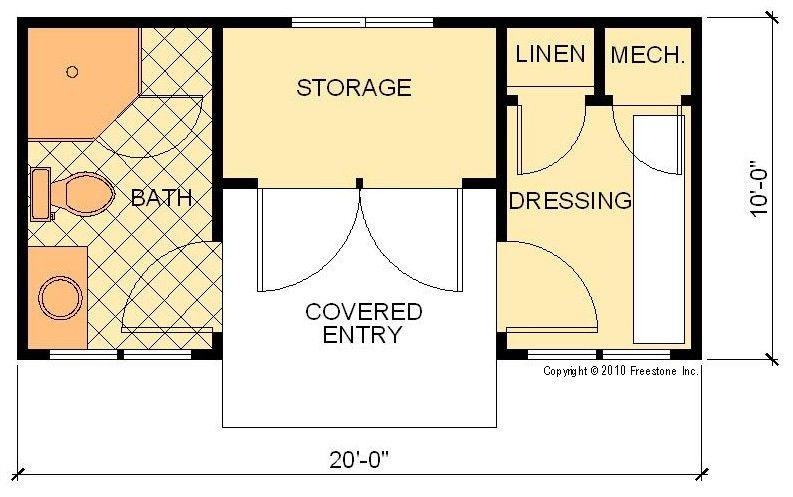 Cabana i plan freestone stock house plans pool cabana for Cabana design plans