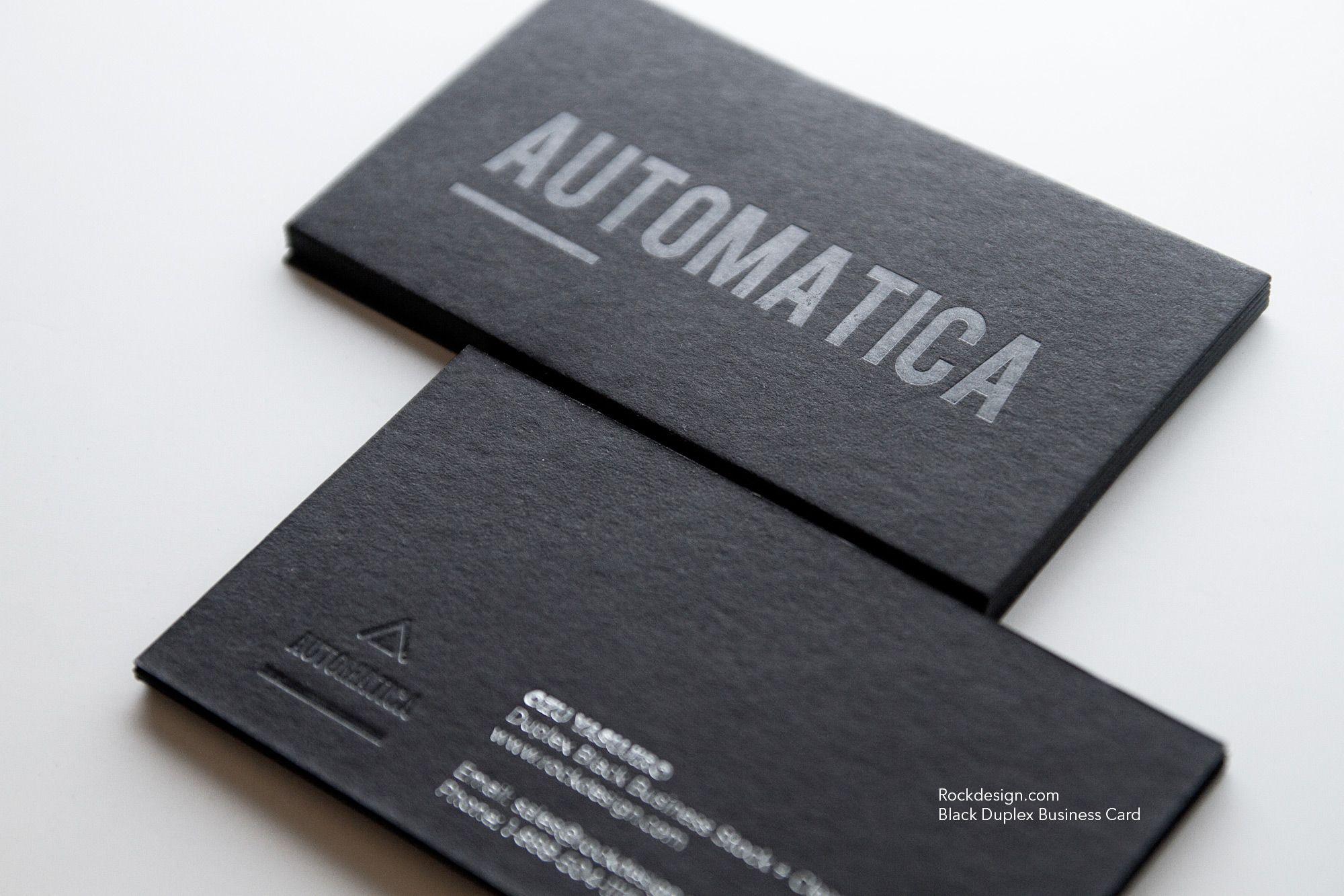 Black Duplex Business Card Clear Foil Clear Business Cards Foil Business Cards Letterpress Business Cards