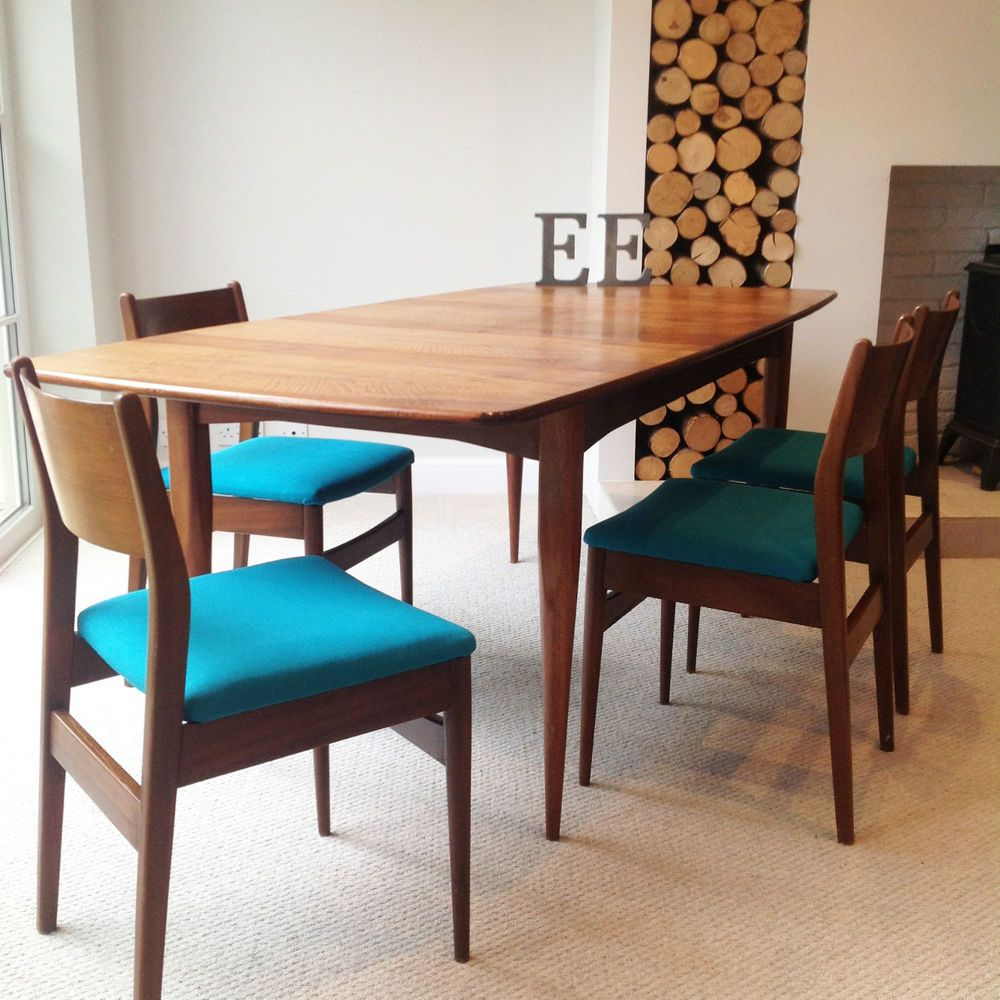Mid Century Dining Table And Chairs G Plan Kofod Larsen Style Rosewood Table Dinning Chairs Dining Table Teak