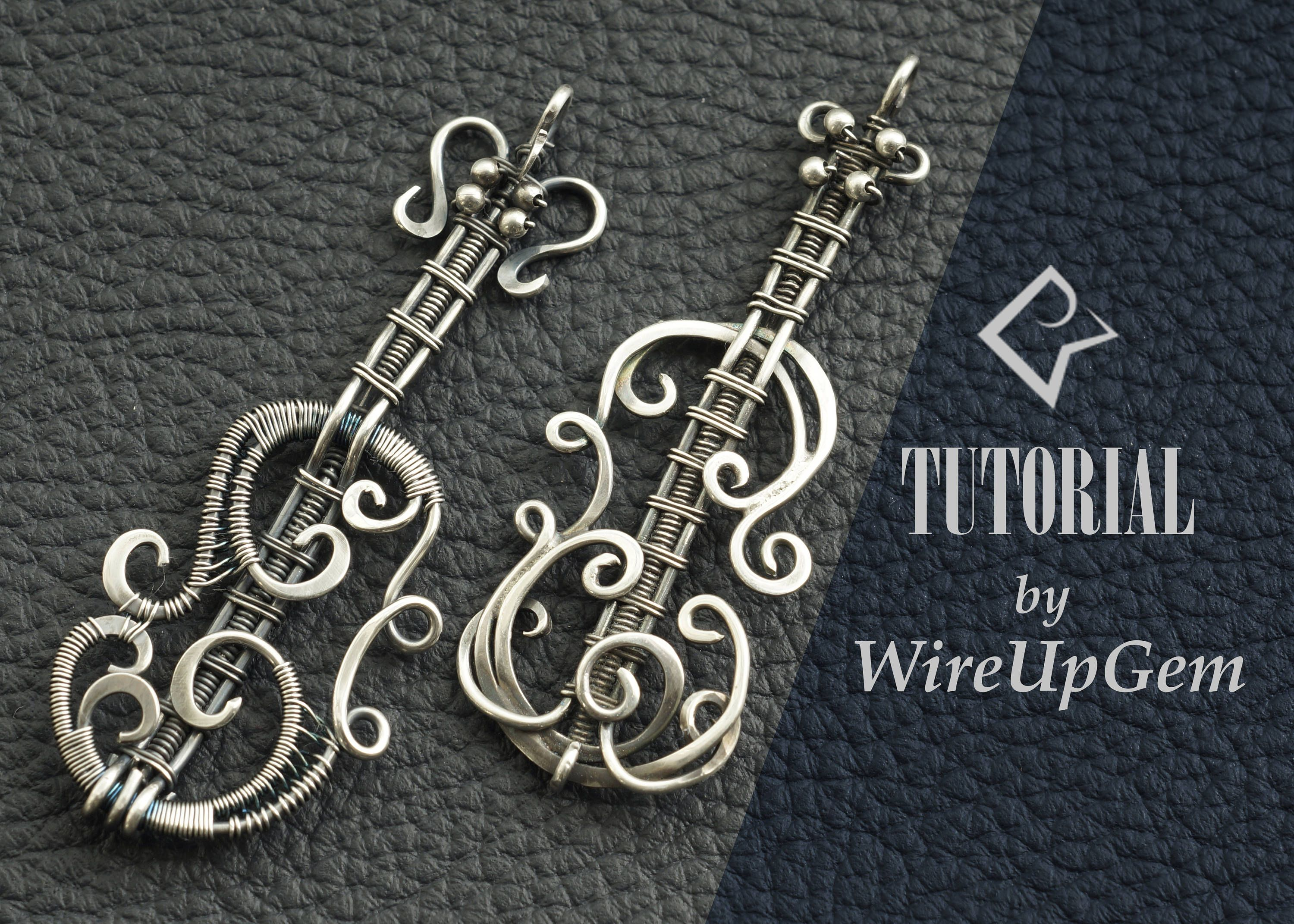 Wire wrap tutorial, Wire wrapping, violin pendant, tutorial, PDF ...