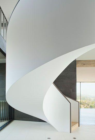 modern circular staircase | Balance Hill by Kirkpatrick ...