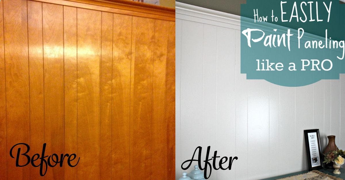 Diy Home Repair Hack Easily Paint Over Wood Paneling Painting Wood Paneling Paint Over Wood Paneling Paneling Makeover