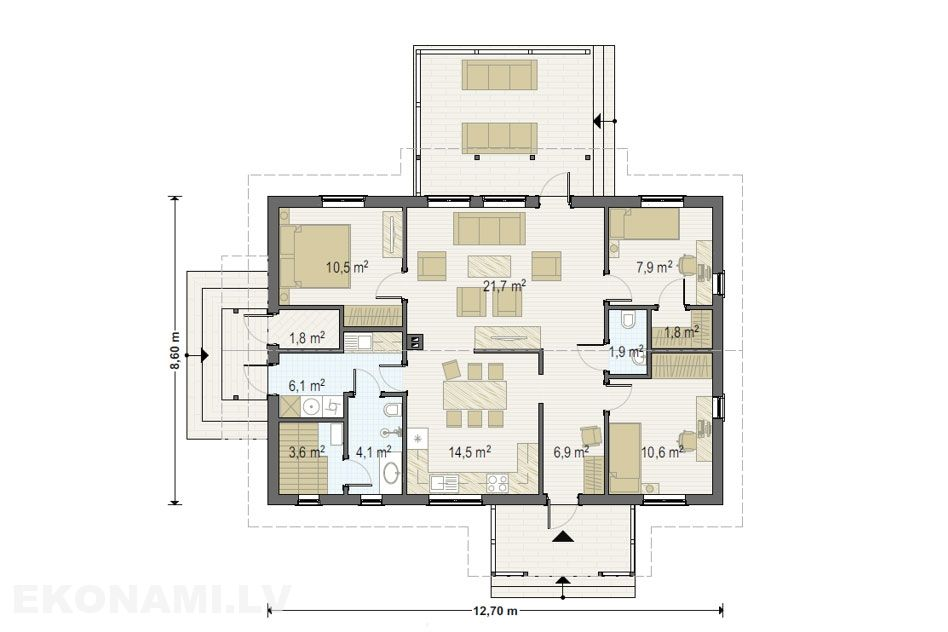 Каркасный дом Ekonami 5