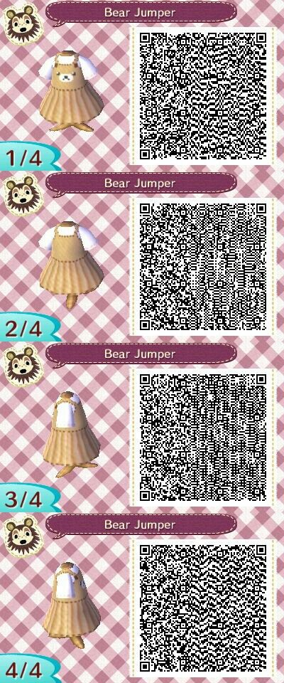 Bear Jumper Qr Code Credit Goes To Able Sisters Qr On Tumblr