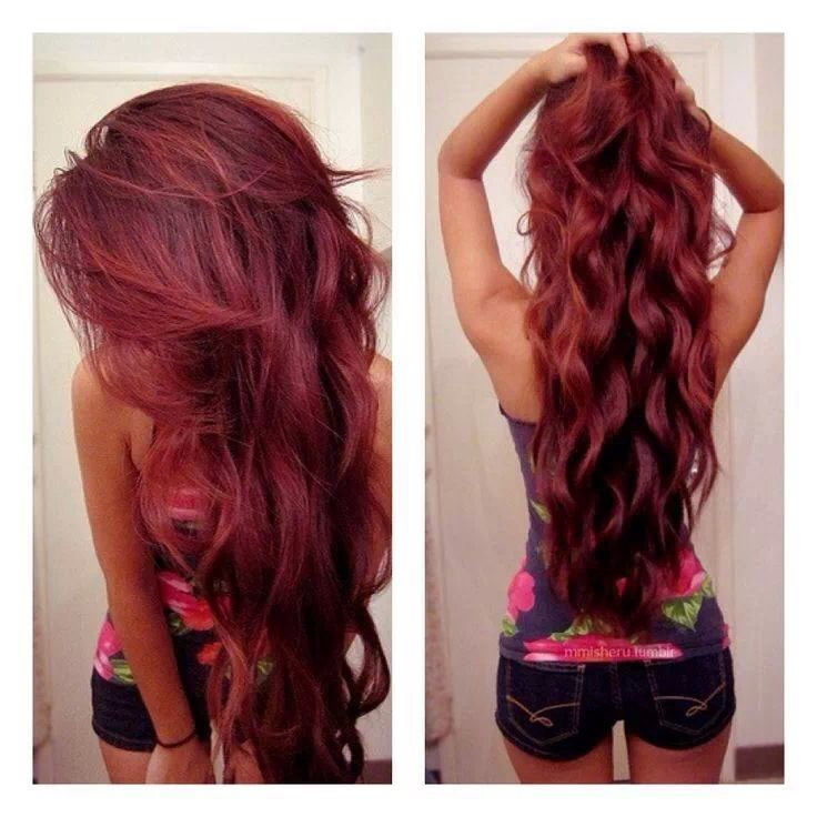 Coloration cheveux long rouge