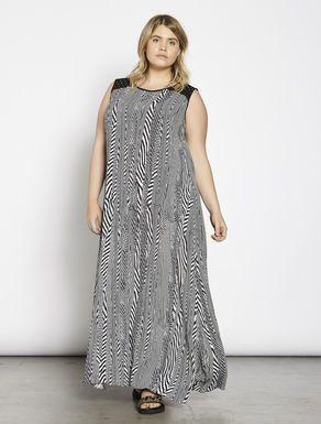 89029c82d Vestido largo crepé marroquí estampado