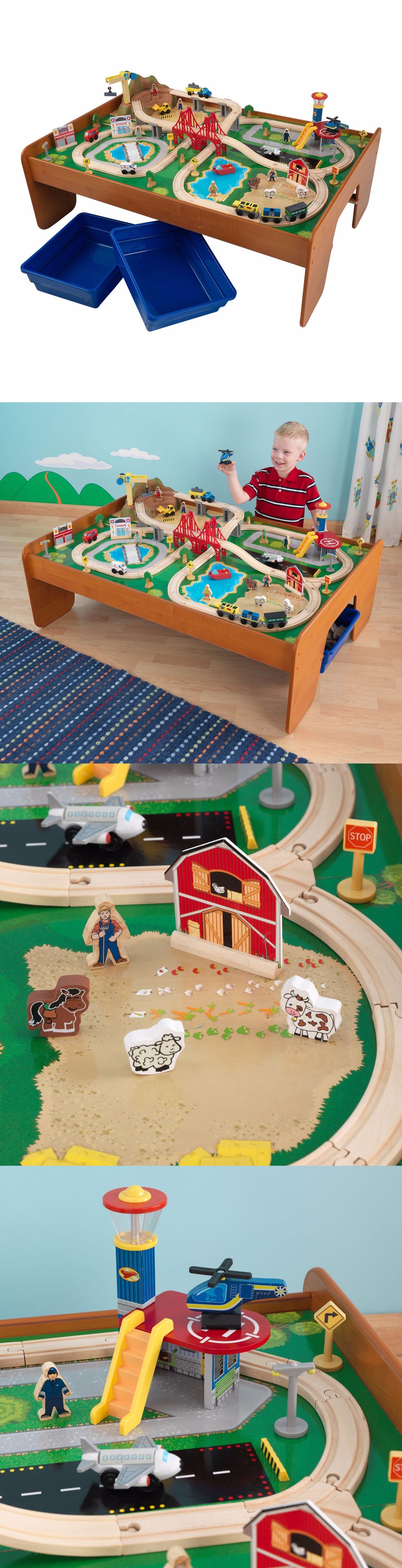 Brio Compatible 16517: Ride Around Town Train Set Table 100 Piece Kid Boy  Girl Child