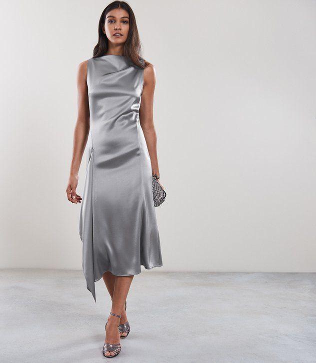 midi dress grijs